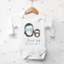 Personalised Penguin Sibling Vest