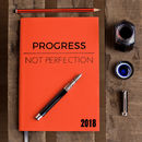 Progress Not Perfection, 2018 Diary, Leather Diary