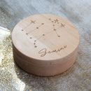 Personalised Horoscope Constellation Jewellery Box