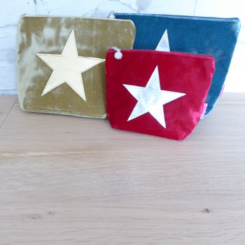 Velvet Star Cosmetic Bag