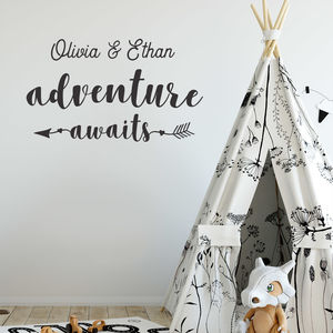 Personalised Adventure Awaits Wall Sticker - new in home