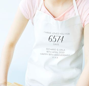 Days I've Loved You Personalised Apron