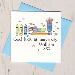 Personalised Good Luck At University Card