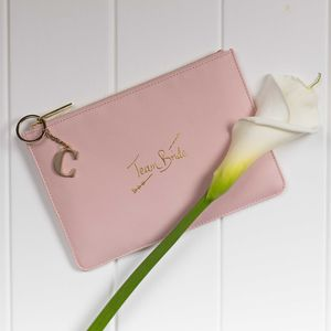 Personalised 'Team Bride' Perfect Pouch - womens