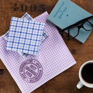 Best Grandad Personalised Handkerchiefs - gifts under £25