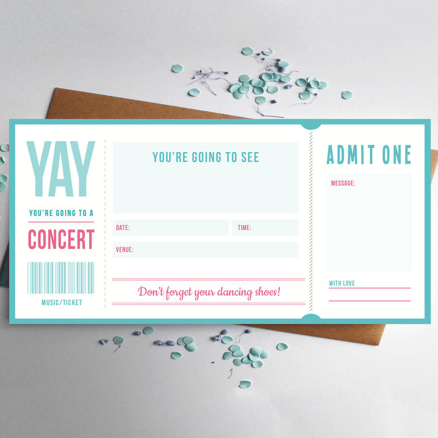 Music Ticket Gift By Rodo Creative