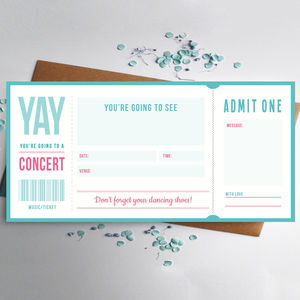 Music Ticket Gift - canvas prints & art
