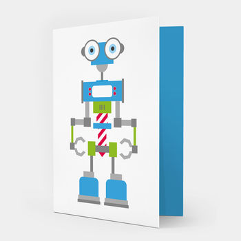 Robot Card Blue