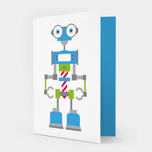 Blue Robot Card - view all sale items
