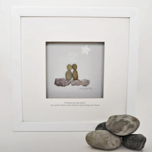 Personalised Friendship Pebble Artwork