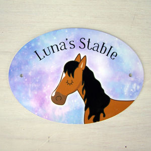 Horse Stable Plaque Stable Door Sign