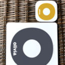 Personalised Initial Placemat And Coaster
