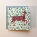 Fawn And Fir Mini Christmas Card
