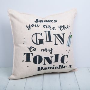 Gin And Tonic Personalised Cushion - cushions