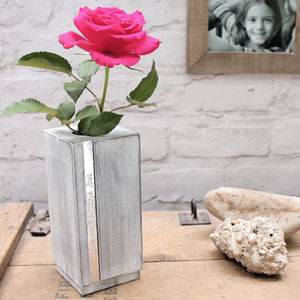 Personalised Beech Wood Stem Vase