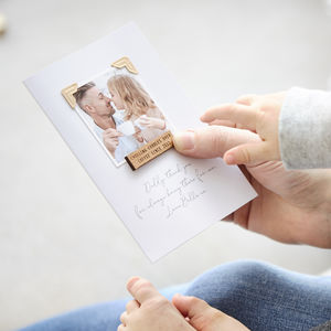 Personalised Memory Photo Card - thank you cards