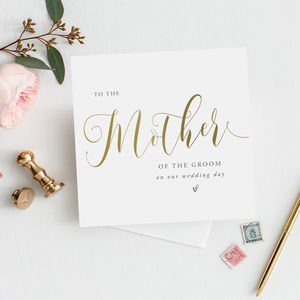 To The Mother Of The Groom Card