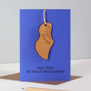 Personalised Clever Clogs Graduation Exam Keepsake Card