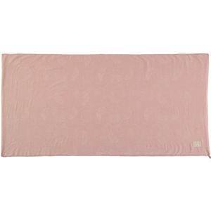 Childrens Floor Mat In White Bubble/Misty Pink