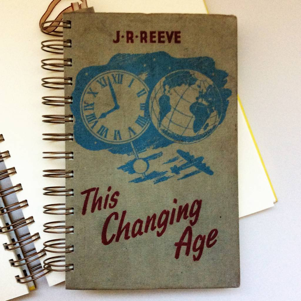 'This Changing Age' Upcycled Notebook