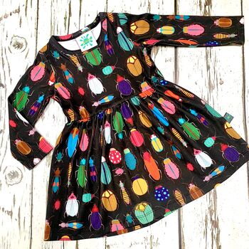Organic Bugs Dress Newborn To 10 Years