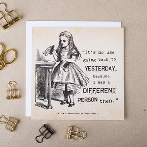 Alice In Wonderland Card 'Yesterday' - shop by category