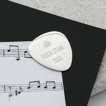 Personalised Rock Star Guitar Plectrum
