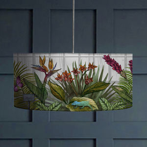 Glasshouse Tropical Botanical Print Lampshade - dining room