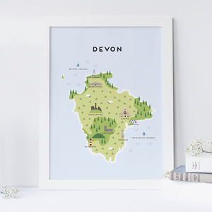 Map Of Devon