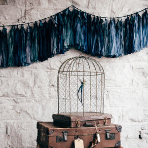 Celestial Hand Dyed Garland With Silk Ribbon - room decorations