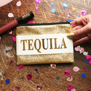 Personalised Tequila Lover Glitter Coin Purse Gift - purses & wallets