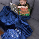Personalised Snuggle Blanket With Reading Book