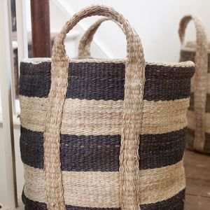 Striped Storage Basket - storage