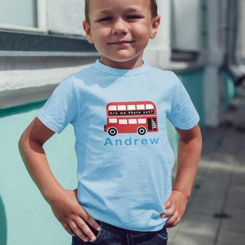 Personalised Children's Bus T Shirt
