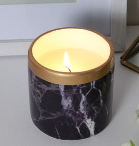 Black Marble Effect Scented Candle - candles & home fragrance
