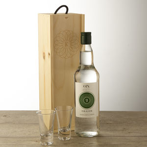 Personalised Gin And Keepsake Wooden Gift Box - spirits & cocktails