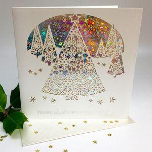 Christmas Card Trees Wishing You All A Merry Christmas