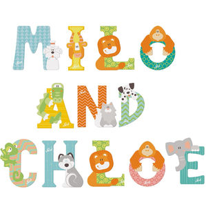 Children's Wooden Decorative Door Letters - baby's room