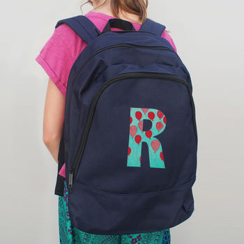 Personalised Party Initial Backpack