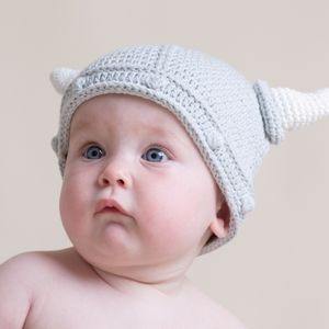 Hand Crochet Baby Viking Hat - hats, scarves & gloves