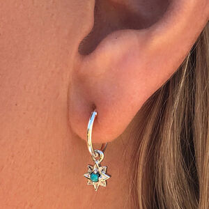 Guiding North Star Turquoise Mini Hoops
