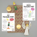 Christmas Party Bag With Angel And Elf Peg Doll Kits