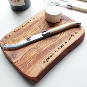 Personalised Wooden Chopping Board - birthday gifts
