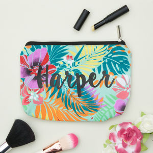 Personalised Tropical Make Up Bag - what's new