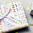 21st Birthday Wrapping Paper Set