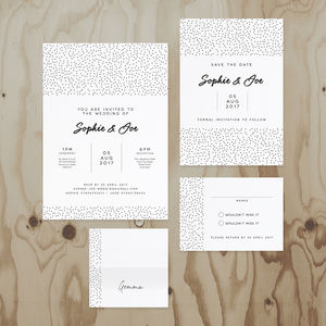 Speckled Wedding Stationery Collection - invitations