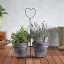 Decorative Heart Planter With Pots