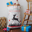 Nordic White Kraft Paper Christmas Sack