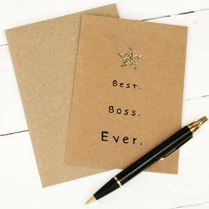 Best Boss Ever Card