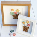 Handmade Pottery Flowers Oak Personalised Artwork